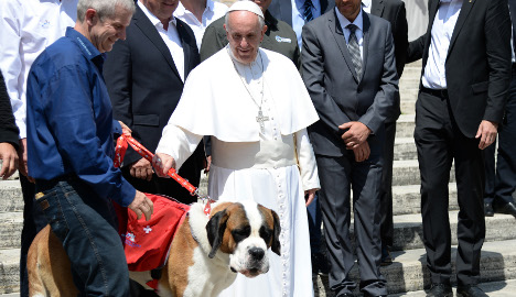 Dog day afternoon: Swiss saint meets Pope in Rome