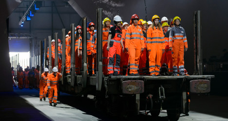 In pictures: Gotthard tunnel opening's best moments