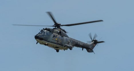Swiss army helicopter used in search for illegal immigrants