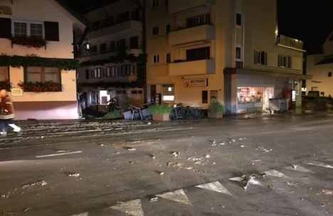 Flooding leads to chaos in central Switzerland