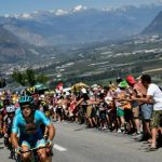 The stage culminates with a tough ride up from Finhaut to the Emosson dam in the Valais. Photo: Jeff Pachoud/AFP