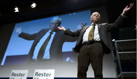 Swiss populist attacked by knife-wielding pensioner