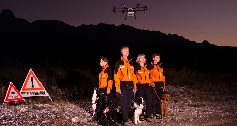 Drones to help Swiss rescue dogs find missing people