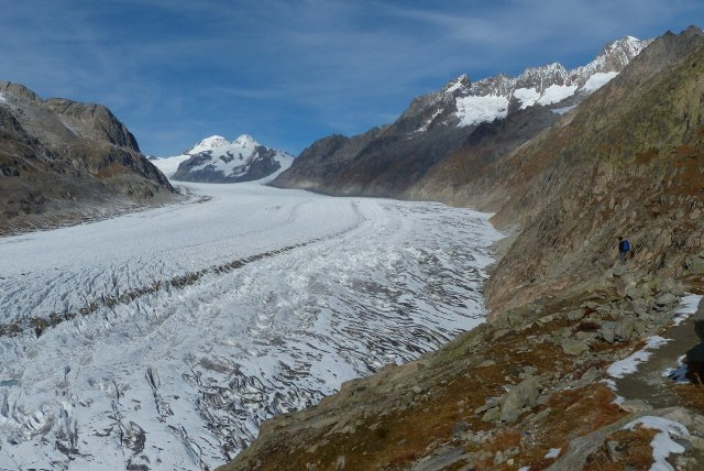 Swiss scientists: melting glacier makes the earth move