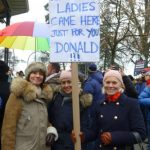 """""""I'm here because i'm very concerned by the state of our world, particularly the environment and women's right to choose. His [Trump's] potential administration could be very destructive for many different causes.""""Photo: Caroline Bishop"""