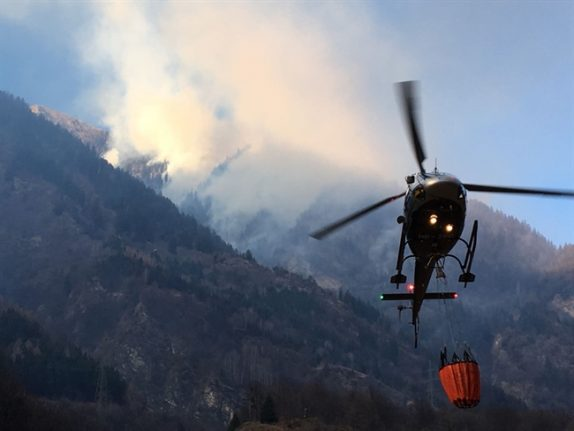 Forest fire risk raised to highest level in Ticino