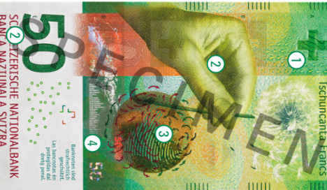 Swiss 50 franc note named 'banknote of the year'