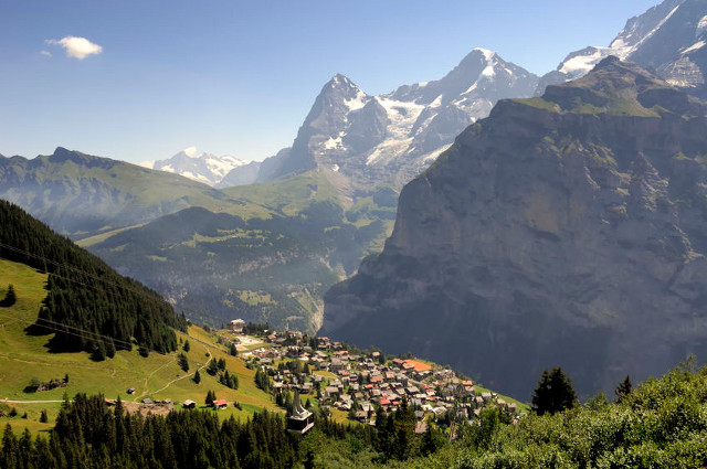 Tourists name baby daughter after Swiss mountain village