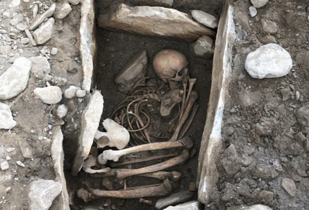Archaeologists find 7,000-year-old human remains in Swiss city