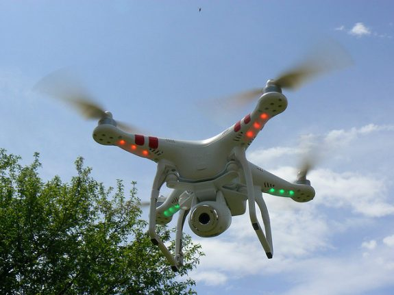 EPFL stages first ever public showcase of drone technology