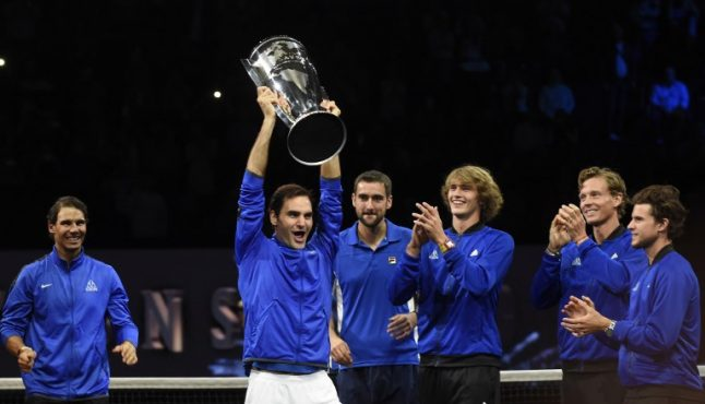 IN PICTURES: Swiss legend Federer leads Europe to maiden Laver Cup title