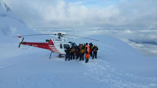 Climbers rescued after a chilly night on the Jungfrau summit
