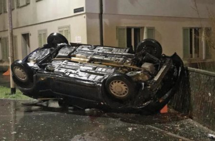 Armed man dies after crashing car during police chase