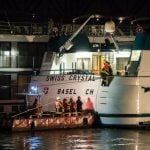 Nearly 30 injured in collision of Swiss cruise ship on the Rhine