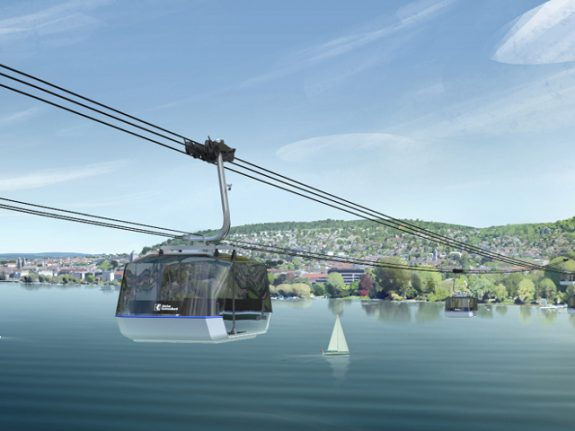 Zurich bank picks location for anniversary cableway over lake
