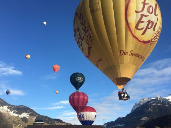 IN PICS: Balloons take to the skies in 40th Château d'Oex festival