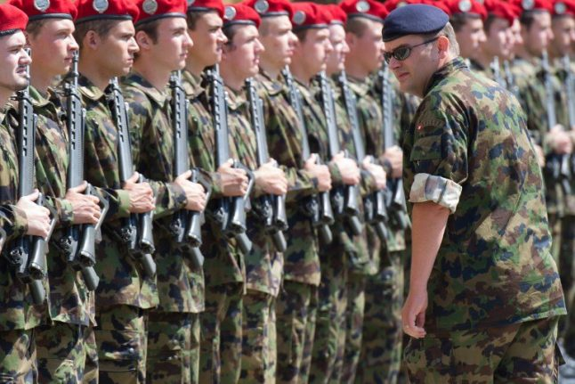 Swiss soldiers injured after accident involving military vehicle