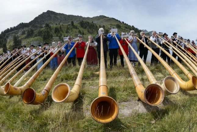 The ancient 'megaphone' of the Alps returns for its annual Swiss gala