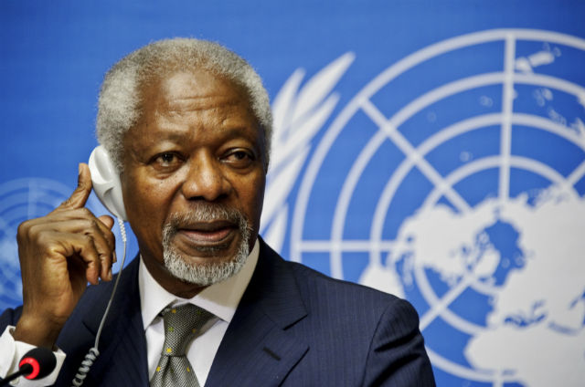 Tributes  pour in on Sunday for former UN head Kofi Annan
