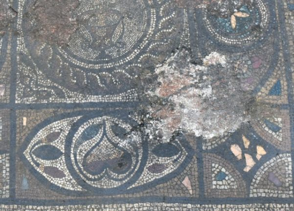 Richly-decorated Roman mosaic uncovered during Swiss building works
