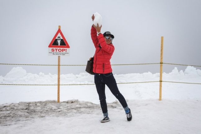 In pics: Switzerland sees first snow of the winter