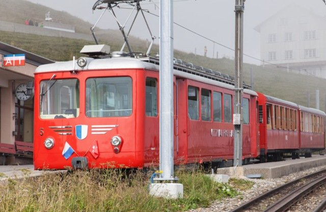 Tourist killed after being hit by train in fog on Swiss mountain