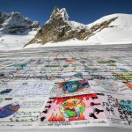 Record-breaking Swiss Alps postcard sends message against climate change