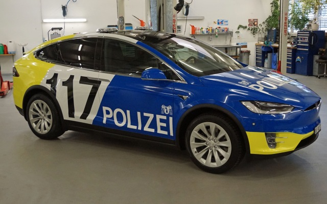 Basel police unveil cool new customized Tesla response cars