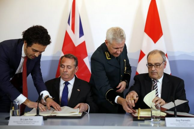 Switzerland and UK complete post-Brexit trade deal