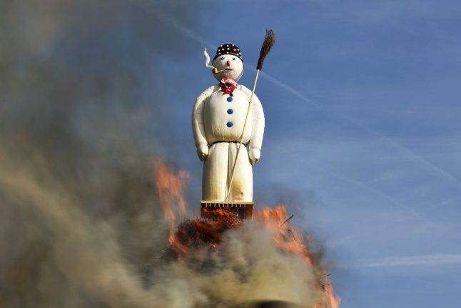 Here's why people in Zurich burn a huge snowman every April