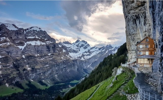 Call for ban on 'annoying' drones at iconic Swiss cliff face restaurant