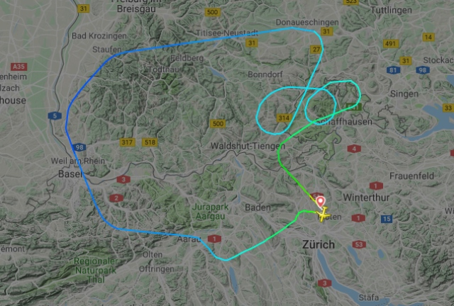 Two planes forced to turn back to Zurich as wild storms hit Switzerland