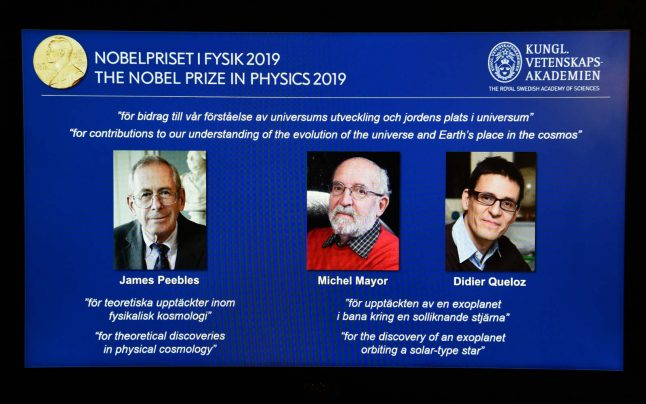 'Simply extraordinary': Swiss cosmologists win Nobel Prize in Physics