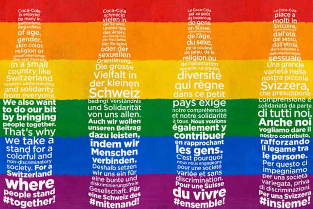 Youth wing of Swiss People's Party calls for Coca-Cola boycott over homophobia referendum
