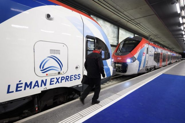 When will the Léman Express resume normal services in Switzerland?