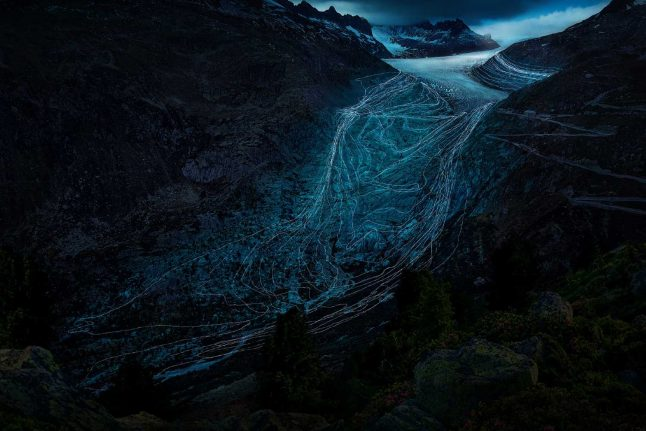 Art project shows the scope of Switzerland's extraordinary glacier loss