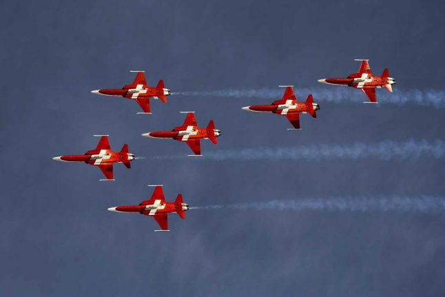 Why is Switzerland holding a referendum on purchasing fighter jets?