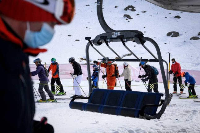 IN PICTURES: Swiss hit the slopes 'to save ski season'