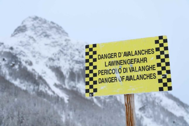Weather warning: Part of Swiss Alps placed on high avalanche alert