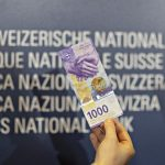 Why is the demand for 1,000-franc banknotes growing in Switzerland?