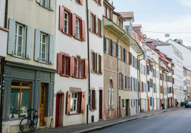Apartments in Basel's old city.