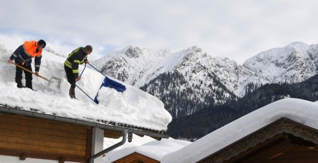 The shape of things to come: Snow is predicted this week in Switzerland.